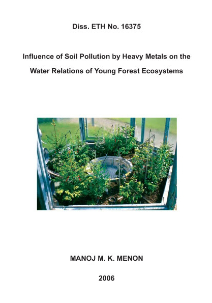 Influence of soil Pollution by Heavy Metals on the Water Relations of Young Forest Ecosystems-0