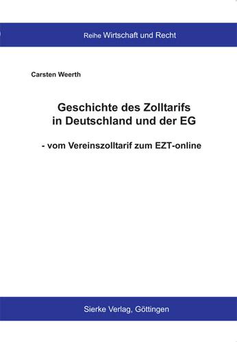 Geschichte des Zolltarifs in Deutschland und der EG-0