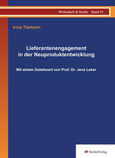 Lieferantenengagement in der Neuproduktentwicklung-0